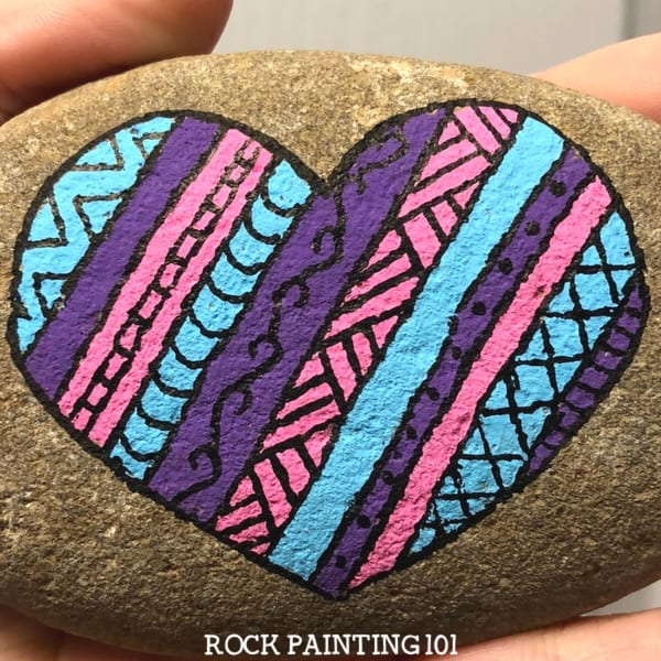 Striped Heart Rock