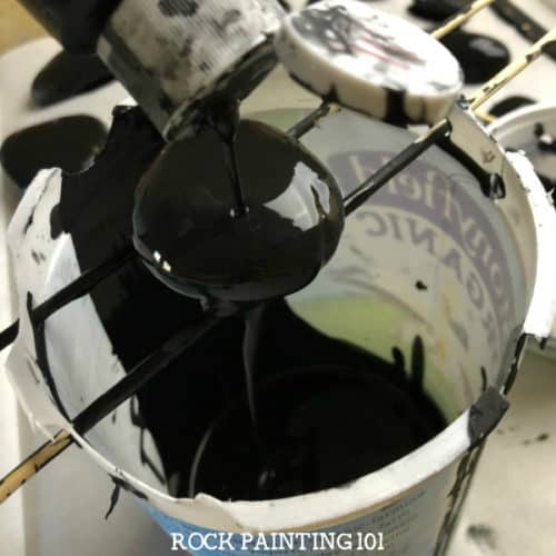 Base Coat Rocks to paint. Add a quick and inexpensive base coat to your rock painting. This method uses acrylic paint. Perfect for rock hunting!
