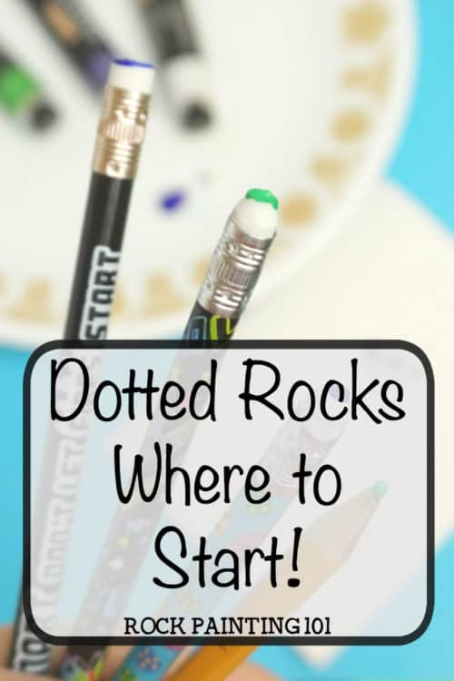 Dot painting for beginners. Learn how to paint rocks with this dotted rock technique. Perfect for rock painting beginners. From dotting tools to simple dotting techniques. #dotpainting #dottedrocks #howtopaintrocks #rockpaintingtechniques #rockpaintingforbeginners #stonepainting #paintedrocks #rockpainting101