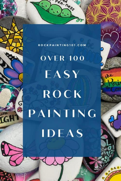 Rock Painting Ideas that will inspire you to pick up that paintbrush (or a paint pen) and start creating! Don't be intimidated by all the rocks you see online. These easy ideas are perfect for beginners!