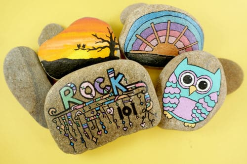 These rock painting ideas are sure to inspire!