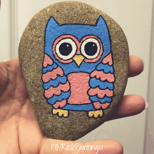 Create lovely owl painted rocks with this simple rock painting for beginners technique. We use posca paint pens because they are so easy to work with, but you can use acrylic paints with a brush too!