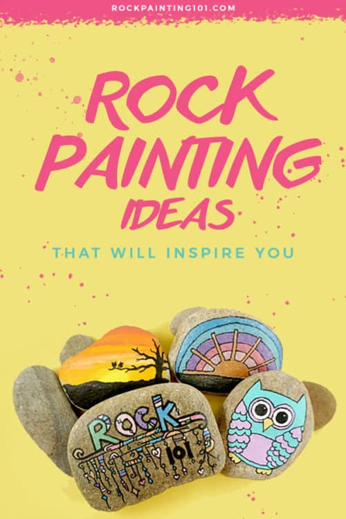 Over 50 rock painting ideas for beginners. Get inspired with rock painting 101 and their step by step tutorials. #rockpaintingideas #paintedrocks #stonepainting #howtopaintrocks #rockart #rockpainting101