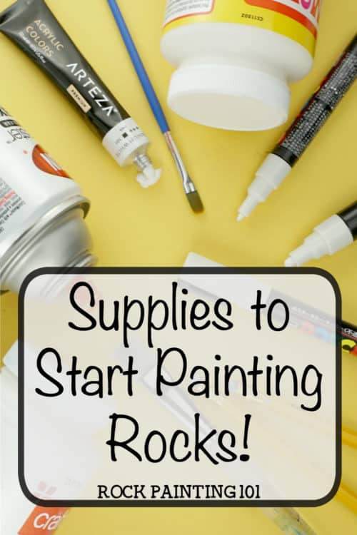 Supplies for rock painting. Get the supplie you need to start painting rocks. From what paints to use to the proper sealers. Get all the details for your first stone painting project! #rockpainting #rockpaintingsupplies #rockpaintingtips #rockpaintingtechniques #rockpaintingforbeginners #stonepainting #rockpainting101