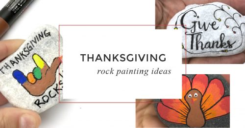 These funThanksgiving painted rocks are perfect for giving, decorating your dinner table, or to use as place card holder. Which will you create first? #thanksgiving #rockpainting #paintedrocks #thanksgivingcrafts #holidaytabledecor #thanksgivingactivities #rockpainting101