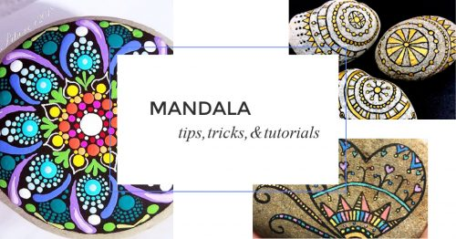 Learning how to draw mandala rocks can be daunting. But these tips will help you create beautifully painted rocks, regardless of your skill level. #rockpainting101
