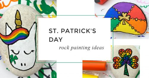 Create fun St Patricks Day painted rocks that are perfect for hiding, giving, or decorating this March.