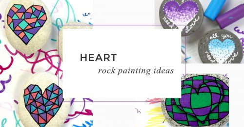 Heart rocks make lovely painted rocks. You can incorporate so many different techniques that there is a style that's perfect for any skill level. This collection will inspire you to pick up your paint pen (or brush) and create some beautiful rocks.