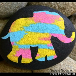 Create beautiful elephant rocks with this simple technique. From the marbled backdrop to the perfectly symmetrical butterfly, these rock painting techniques are perfect for the beginner.