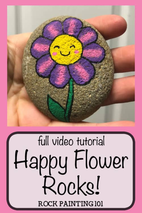 Thesehappy flower rocks are an easy flower painting idea that works perfectly on rocks! I can just imagine the smile on someones face when they find this fun stone painting idea. #happyflowerrocks #flowerrockpainting #easyflowerpainting #simpleflowerpainting #flowerpaintedrocks #smileyfacerocks #howtopaintrocks #stonepaintingforbeginners #rockpaintingideas #rockpainting101