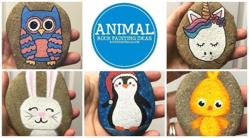 Rabbit Rock Painting Idea