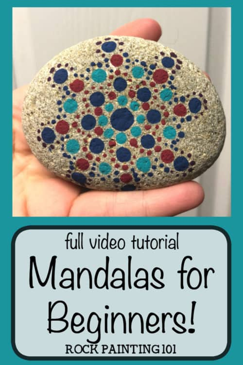 Mandala Rock Painting. Get tips on how to paint a mandala onto a rock. Simple hack, quick tips, perfect for the rock painting beginner. #mandala #mandalarocks #howtopaintamandala #mandaladesigns #rockpaintingforbeginners #stonepainting #rockpainting101