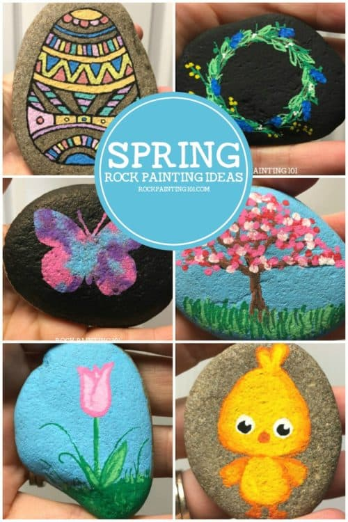 9 amazing spring rocks that will make you giddy - Rock Painting 101