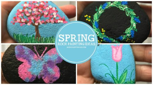Spring rock painting ideas. Simple painted rock ideas that are perfect for spring crafting, hiding, gifting, and decorating!