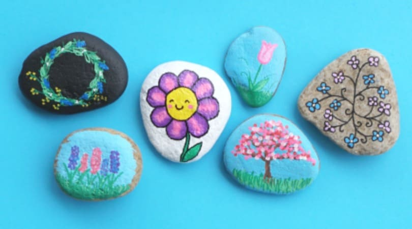 10 easy flower rocks that will make people smile
