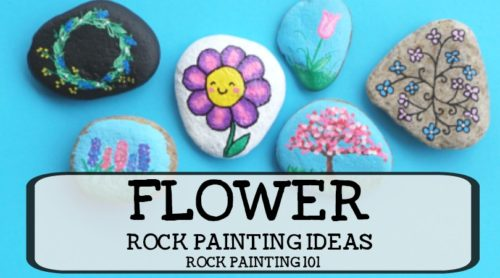 Flower rocks that are bright, colorful, easy to create, and fun! Check out this collection of easy flower painting ideas that will make beautifully painted rocks!