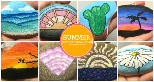 These easy summer themed rocks are perfect for beginners. From rock hunting to gifting, these stone painting ideas are sure to brighten anyone's day!
