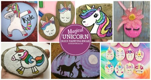 Unicorn rocks that are perfect for beginners. Learn how to paint unicorns with this collection of rock painting ideas!