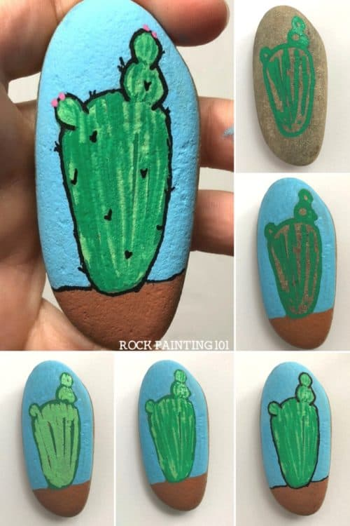 Learn how to paint a cactus on rocks with this simple video tutorial. Grab your paint pens or your favorite paint brush and let's dig into this fun stone painting idea. #cactusrocks #cactuspainting #cactusrockspainted #rocksdiy #rockpainting #stonepainting #howtopaintacactus #cacti #rockpainting101