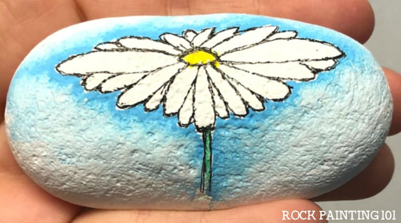 How to make a simple watercolor effect on a rock
