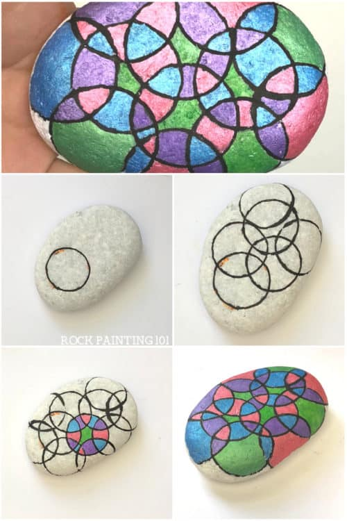 Learn how to draw a perfect circle on a rock. With this rock painting hack, you'll be able to create circles on rocks, paper, canvas, or any other fun surface. Perfect for circle rocks, or circle painting #paintacircle #circlepainting #rockpaintinghack #circleart #circles #howtopaintrocks #emoji #rockpainting101