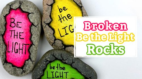 Be the Light Rocks for International Drop a Rock Day 1021