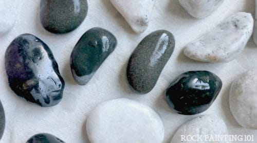 Learn how to prepare rocks and stones for painting. Yes, there is a step from buying rocks to paint and actually painting them. Check out these 4 easy tips. #howtopaintrocks #howtoprepparerocks #rockpainting101 #rockpaintingforbeginners #rockpaintingtips #stonepainting #paintedpebbles #howtowasrocks #rockpaintng101