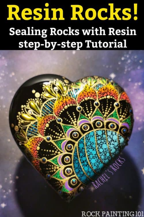 how to seal rocks with resin step by step