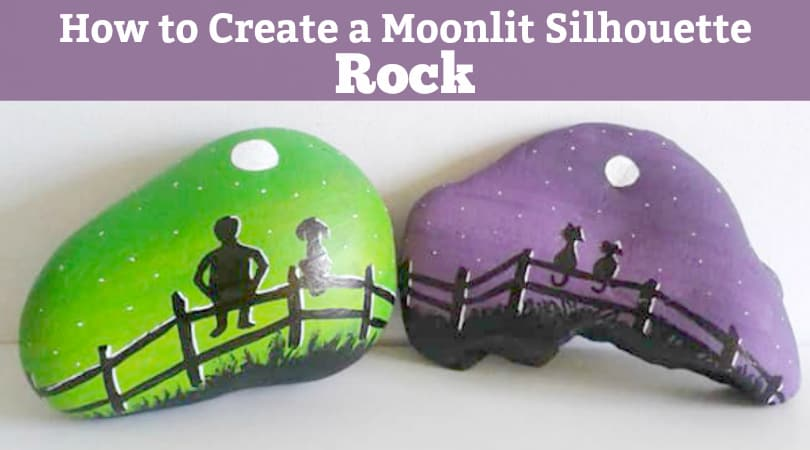 How to paint an easy fence to make a fun rock