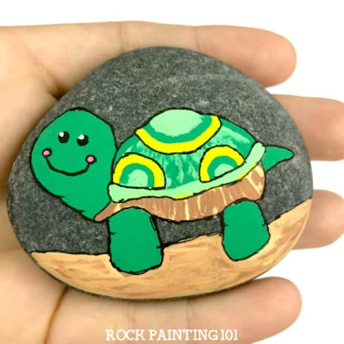 Learn How To Paint A Turtle On Rocks With This Simple Video Tutorial Grab Your