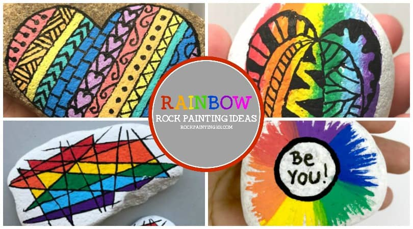 How To Make Fun Rainbow Zendangles On Your Rocks Rock