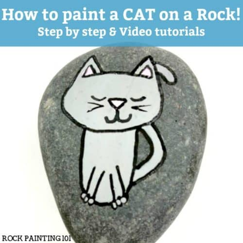 Learn how to paint a cat on rocks with this simple video tutorial. Grab your paint pens or your favorite paint brush and let'screate this easy stone painting idea. #catrocks #howtopaintacat #rockpaintingidea #paintedrocks #stonepaintingideas #rockpainting101