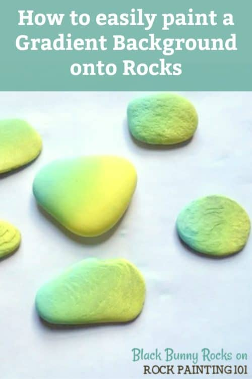 Paint a beautiful gradient background onto your rocks. These are perfect for kindness rocks and sunsets! #gradient #basecoat #rocks #rockpainting #howtopaintrocks #stonepainting #rockpainting101