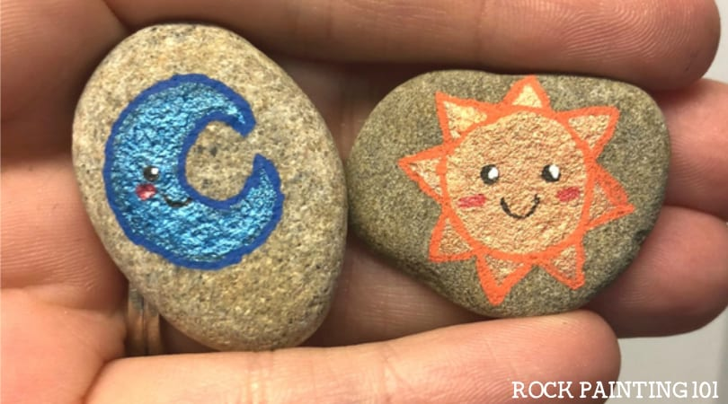 How to make fun tic tac toe rocks for your kids
