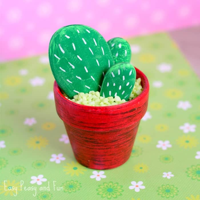 I love the idea of having cactus rocks to decorate with!