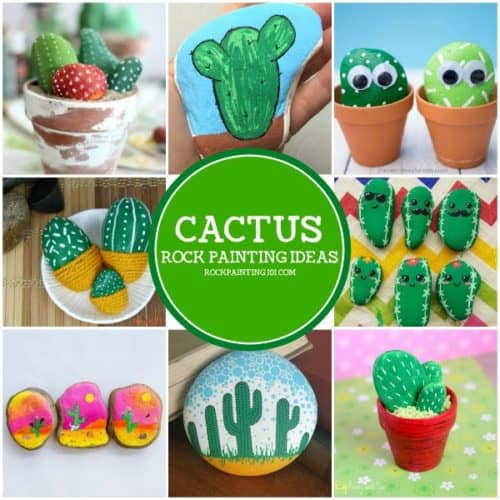 Create beautiful cactus rocks that are perfect for hiding, gifting, or decorating. Get inspired with this collection of from rock cactus to painting a cactus onto a rock, you'll find some inspiration in this collection or stone painting ideas. #cactusrocks #cacti #rockcactus #howtopaintacacti #pottedrocks #rockpaintingideas #stonepaintingideas #rockpainting101