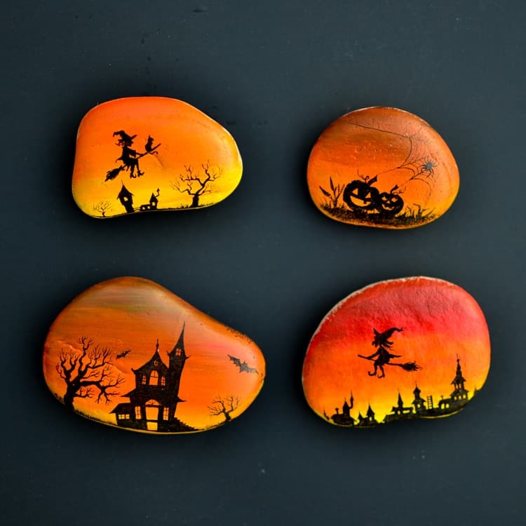 These Halloween silhouettes are perfect for creating spooky night scenes.