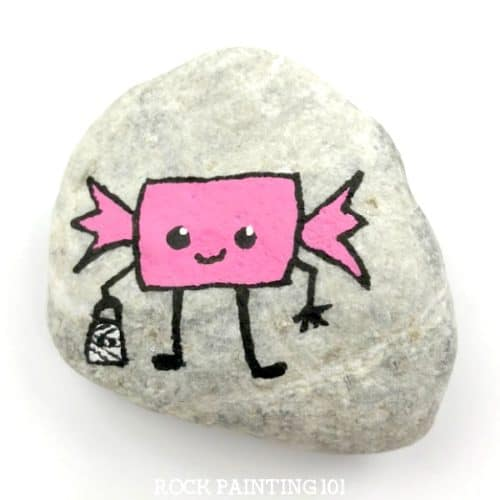 How To Make An Adorable Bubble Gum Painted Rock