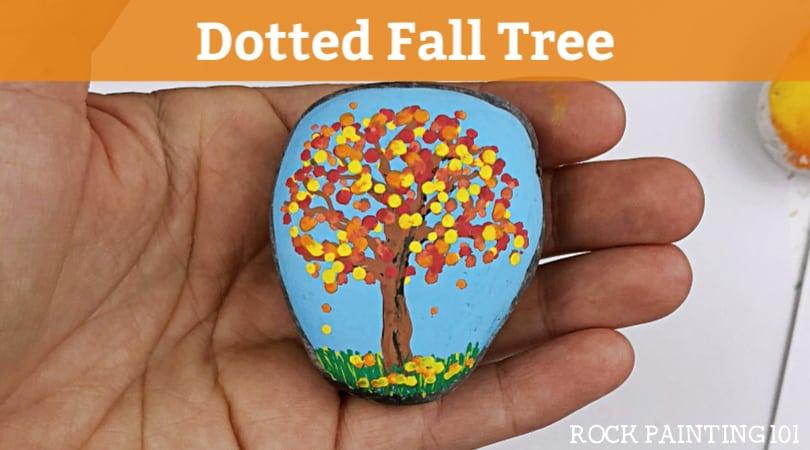 Apple Blossom Trees Dot Painting On Rocks Rock Painting 101