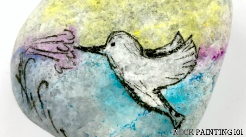 How to make a beautiful hummingbird that looks like watercolors!