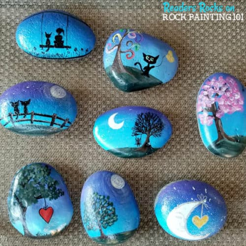 This technique for painting a gradient base coat is fast and easy. Check out the step by step tutorial and you'll be creating amazing painted rocks in no time!