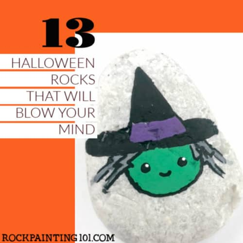 These Halloween painted rocks are so much fun and perfect for holiday rock hiding. Grab your paint pens or a tube of acrylic paint and let's start painting! #halloween #rockpainting #stonepainting #paintedrocks #howtopaintrocks #spooky #fun #rockpainting101