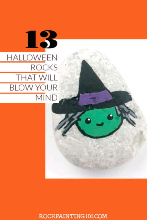 These Halloween rock painting ideas are so much fun and perfect for holiday rock hiding. Grab your paint pens or a tube of acrylic paint and let's start painting! #halloween #rockpainting #stonepainting #paintedrocks #howtopaintrocks #spooky #fun #rockpainting101