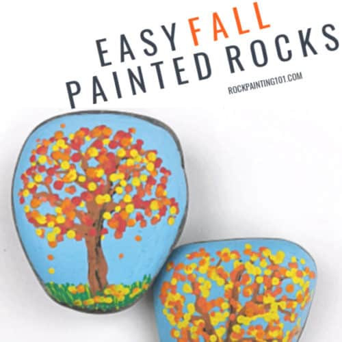 11 Easy Fall Rock Painting Ideas