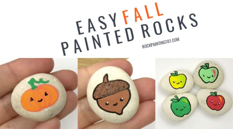 9 easy fall rock painting ideas