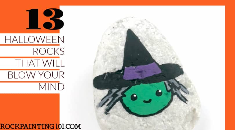 13 Halloween Painted Rocks That Will Blow Your Mind