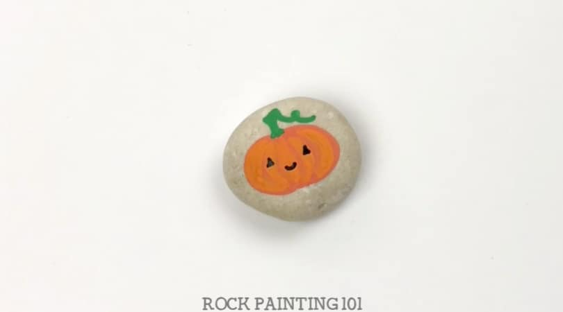 How to make easy pumpkin rocks with a video tutorial
