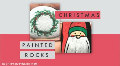 TheseChristmas Painted Rocks are perfect for celebrating and gifting this holiday season. From fun Christmas trees to holiday unicorns, there is a tutorial for every skill level! #Christmaspaintedrocks #christmasrockpainting #holidayrockpainting #stonepainting #stockingstuffers #christmascraft #holidayart #rockpaintingtutorials #rockpainting101