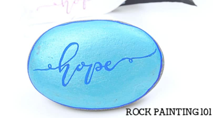 How to use carbon paper to hand letter on rocks