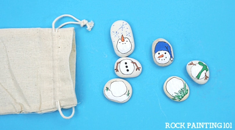 How to make snowman painted rocks for an amazing gift!